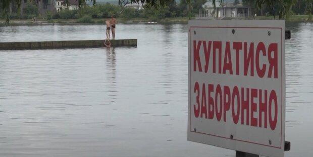 Франківчани наплювали на вказівки Марцінківа і окупували міське озеро: табличка — не заборона