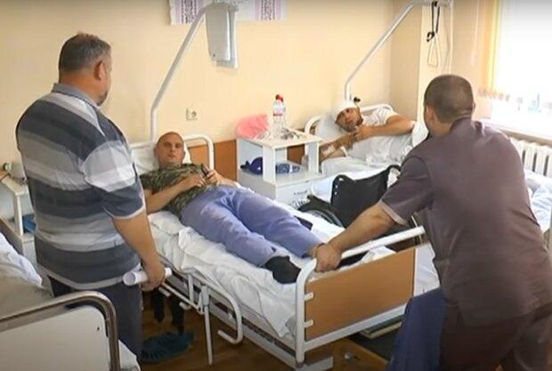 военный госпиталь, скриншот из видео