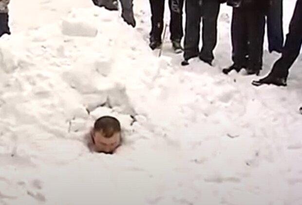 Прикарпатец в снегу попал в Книгу рекордов Гиннеса