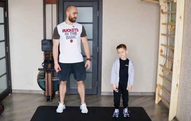 Тренування для дітей, скріншот: YouTube / Khomytskyi Pro