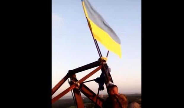 Під окупованою Горлівкою підняли синьо-жовтий прапор