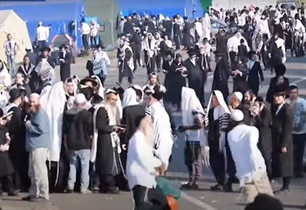 Хасиды на границе, скриншот: YouTube