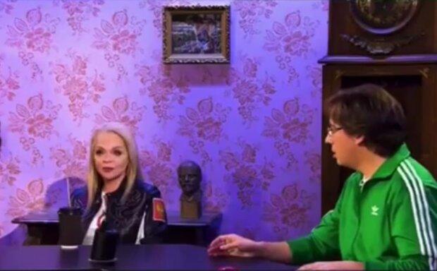 Лариса Долина и Максим Галкин, кадр из видео