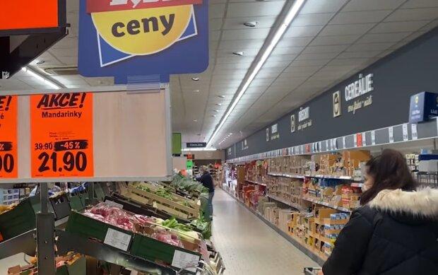 Супермаркет в Чехії, кадр з відео