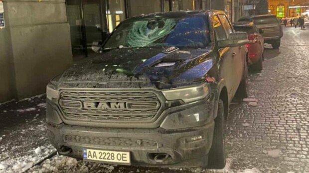 Разбитый Porsche, фото: Украина Новости