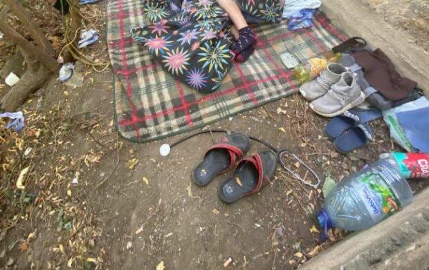 Ребенок жил в парке, фото - Facebook