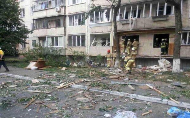 Взрыв многоэтажки в Киеве: появились фото и видео