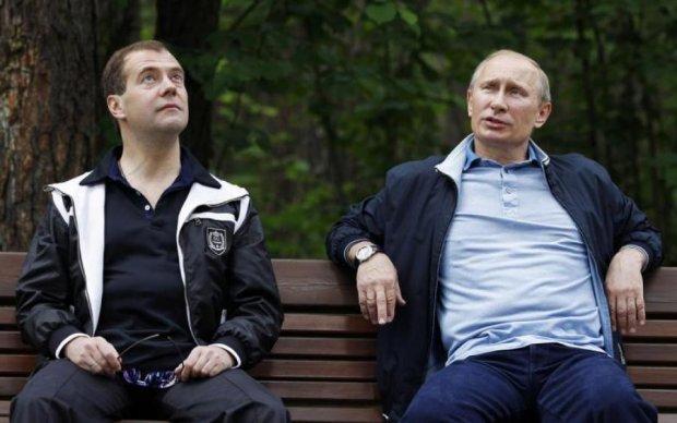 Привет с большого бодуна: лица Путина и Медведева взбудоражили сеть