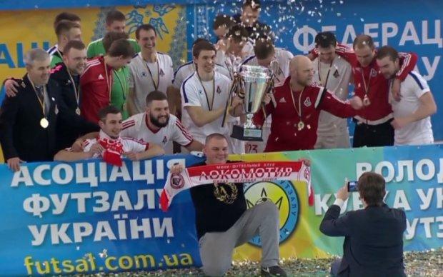Футзальный Локомотив второй раз подряд стал обладателем Кубка Украины