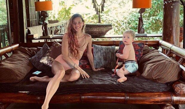 Регіна Тодоренко з сином, фото з Instagram