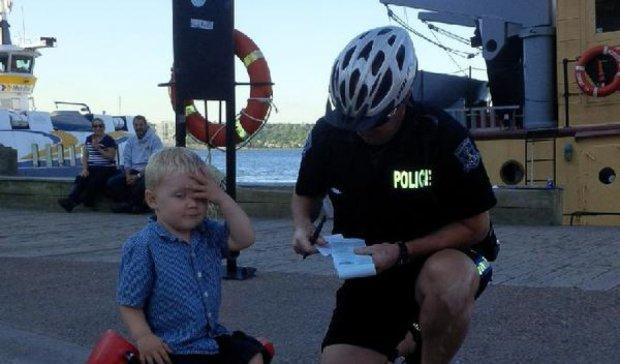 Канадский полицейский выписал штраф трехлетнему ребенку