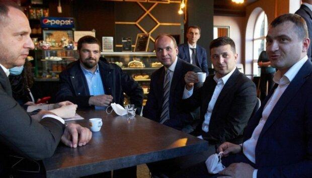 Зеленский на кофе в Хмельницком, фото:president.gov.ua