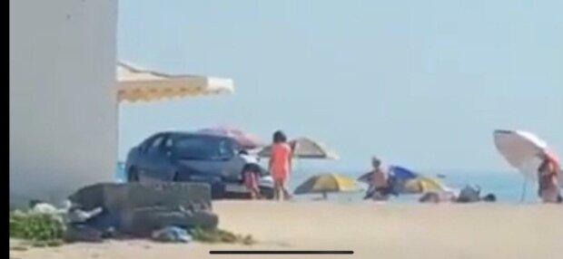 У Кирилівці автохам застряг у піску - миттєва карма