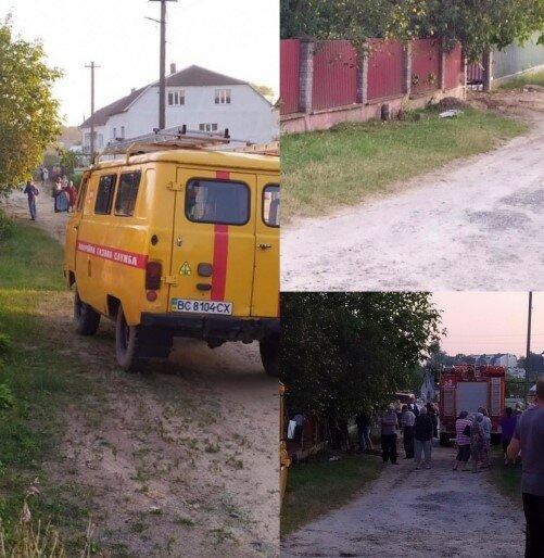 Вибух через ремонт газової труби на Львівшині, скріншот