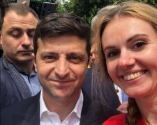 Анна Скороход та Володимир Зеленський, фото: Facebook