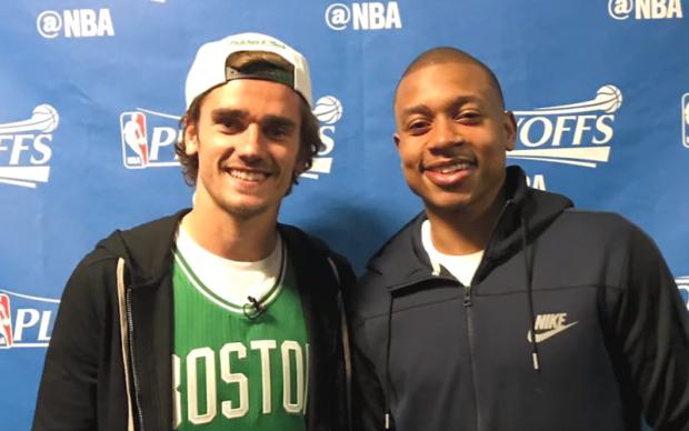 Звезда Атлетико посетил матч НБА и встретился со своим кумиром