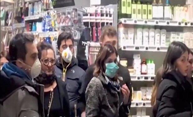 Коронавірус в Італії, скріншот з відео