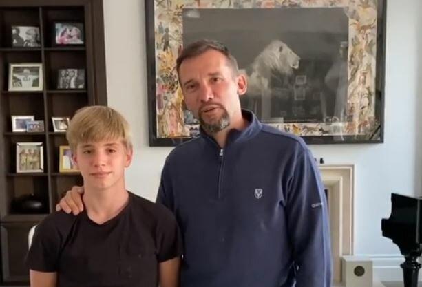 Андрій Шевченко з сином, скріншот: Instagram