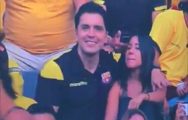 """Чоловік зрадив дружині просто на футбольному матчі, відео з коханкою побачили всі: """"Пробач мені!"""""""