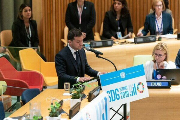 Зеленський виступив на сесії Генасамблеї ООН: президент назвав головну мету України