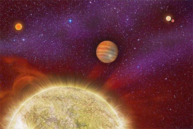 Знайдена планета, яка обертається навколо чотирьох зірок