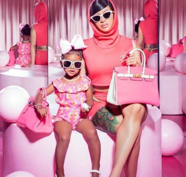Реперка Cardi B с дочкой, фото:pinterest