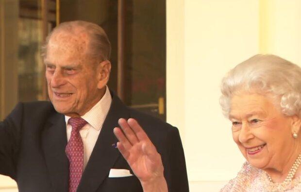 Принц Філіп і королева Єлизавета II, скріншот з відео