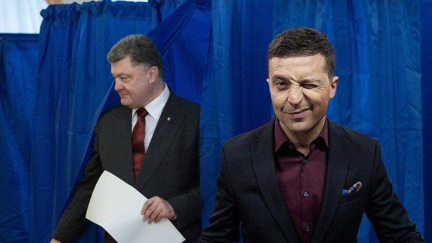 Володимир Зеленський та Петро Порошенко