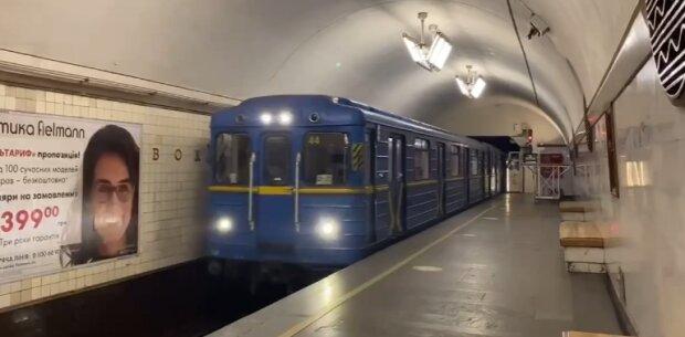 Метро у Києві, скріншот із відео