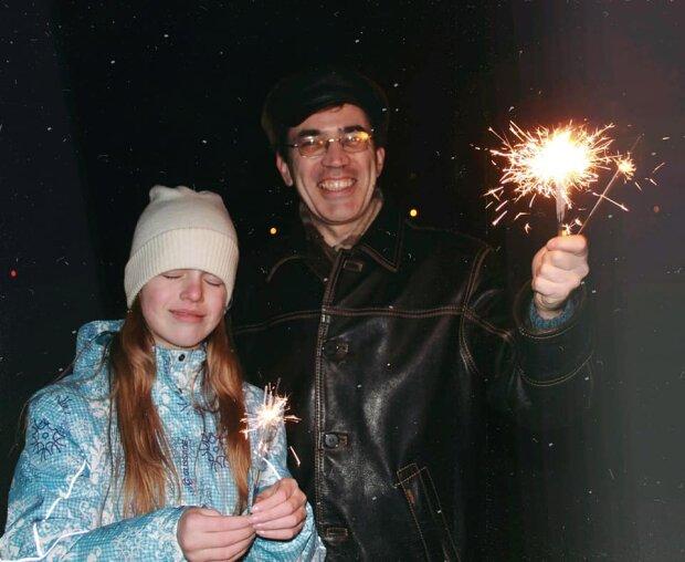 Ольга Шахнык с отцом, фото: Facebook