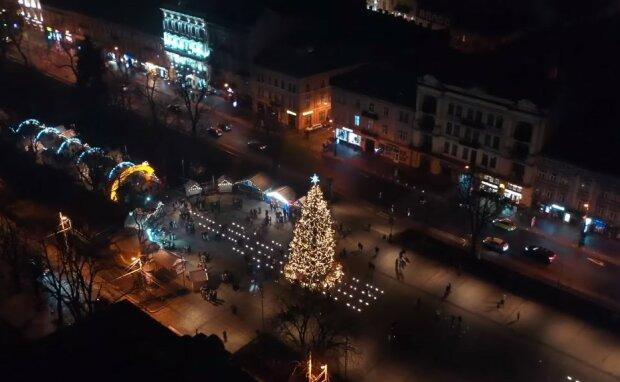 Новорічний Львів, скріншот з відео