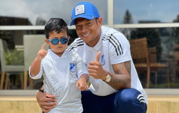 Фредди Гуарин с сыном, фото с Instagram