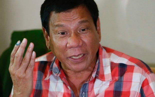 Президент Филиппин пообещал стать животным и выпить уксуса
