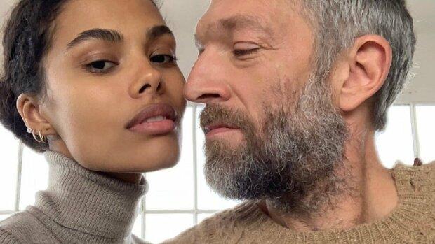 Венсан Кассель и Тина Кунаки, фото Instagram