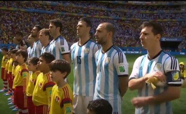 Сборная Аргентины, скриншот: YouTube