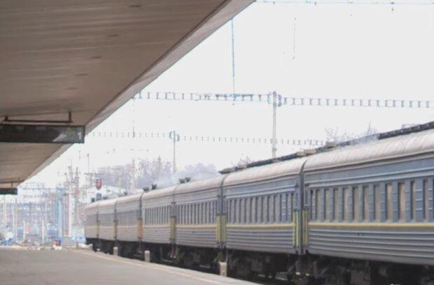 Поезд Укрзализныци, кадр из видео