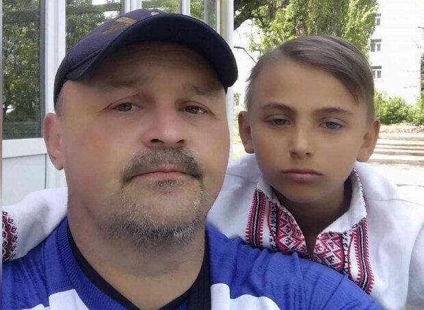Загиблий хлопчик з батьком. Фото: телеграм-портал Новини.live