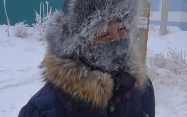 Морозная погода, кадр из видео