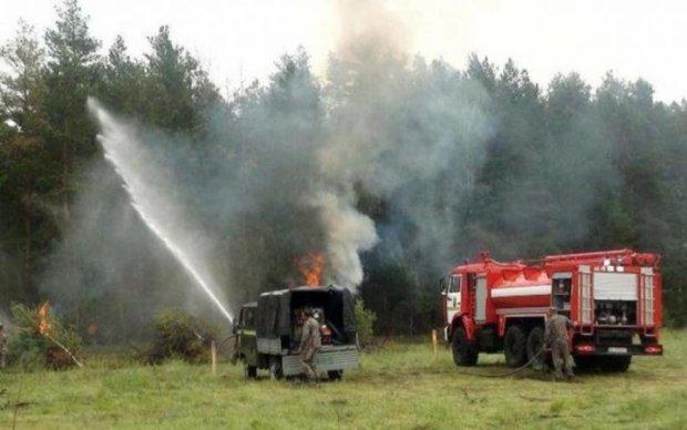 В Україні горять радіоактивні ліси
