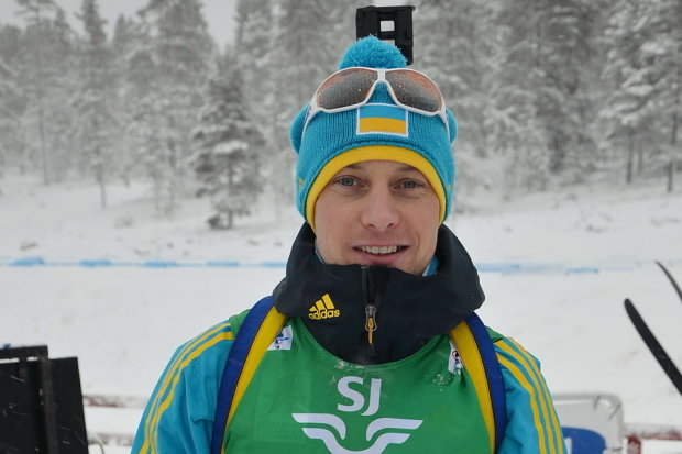 Російський біатлоніст виступає в формі збірної України