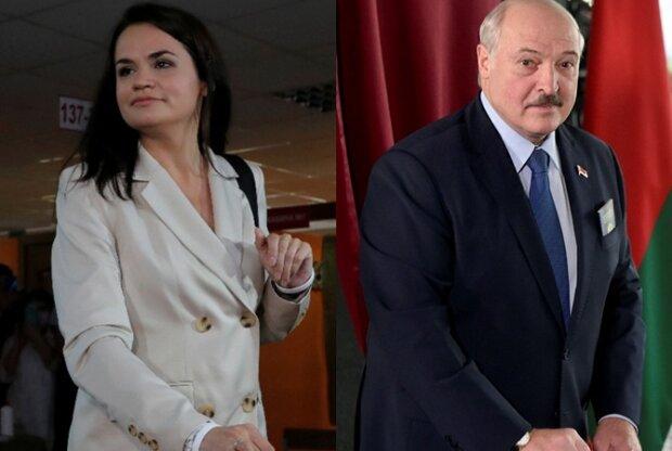 Лукашенко і Тихановська, колаж kp