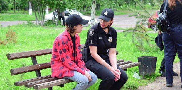 16-річна, яка втекла з окупованої Горлівки, фото: mvs.gov.ua