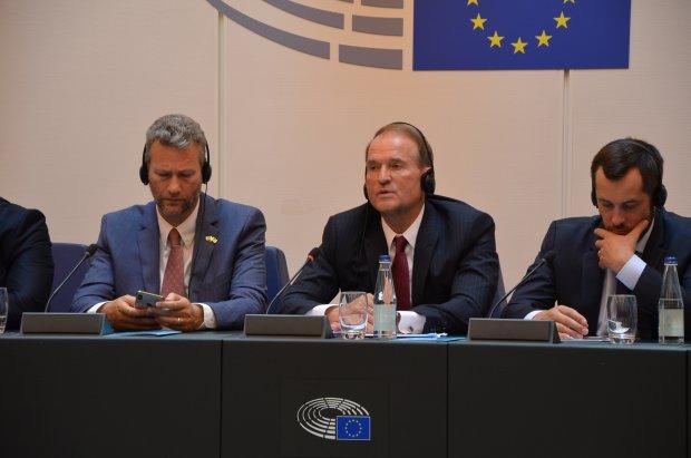 Медведчук на заседании Европарламента: Главная стратегическая задача — вернуть людей, а не территории
