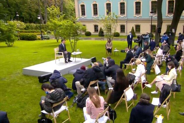 Пресс конференция Владимира Зеленского, скриншот из трансляции