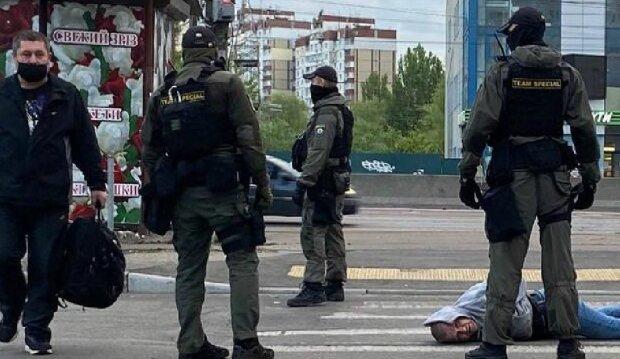 Пограбування банкомату в Києві, фото: dtp.kiev.ua