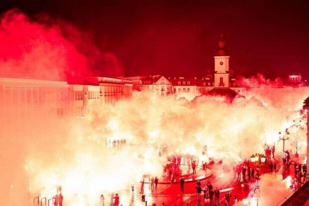Фанаты с размахом отметили юбилей польского футбольного клуба, tribuna.com