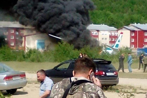 Пассажирский Ан-24 потерпел крушение: первые фото и видео с места ЧП
