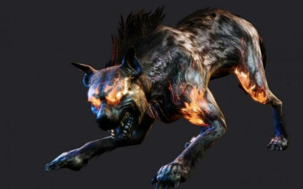 """Собака Баскервілів нервово курить: на камеру потрапило жахливе """"щось"""""""