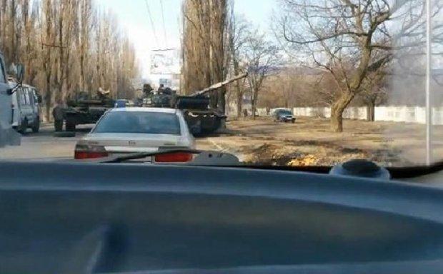 У Макіївці зіткнулися два танки окупантів