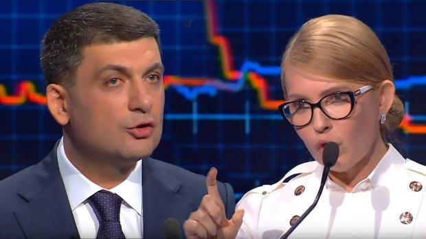 Гройсман и Тимошенко оскандалились в прямом эфире: одна пипетка на двоих
